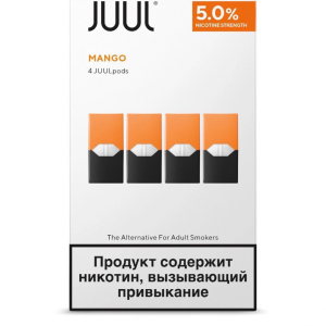 Juul Pods Mango 5% Made in Russia 4pc/pack