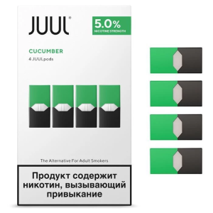 Juul Pods Cucumber 5% Made in Russia 4pc/pack