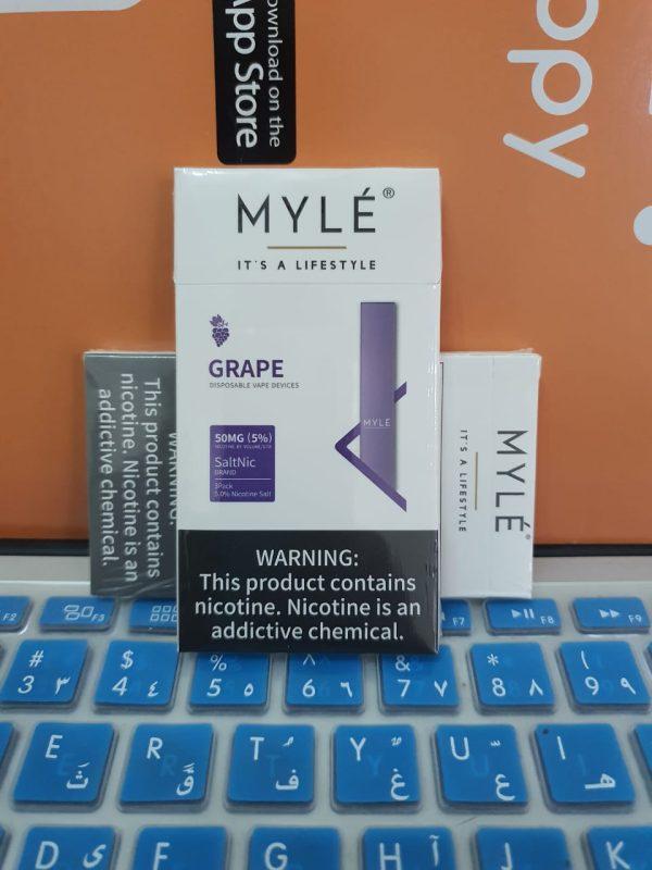 Myle Grape Disposable Device New