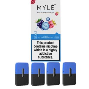 Myle Pod Iced Quadberry Original 4pc/pack