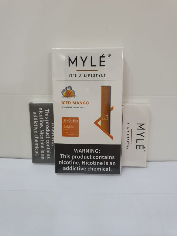 Myle Iced Mango Disposable Vape Device