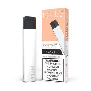 Myle Mini Kit Peach Disposable Device