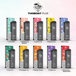 Tugboat Plus Vape Disposable Puffs: 800