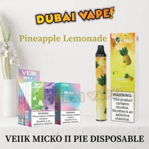 Veiik Micko Π Pie Pineapple Lemonade Disposable Vaporizer 600 Puffs 5omg